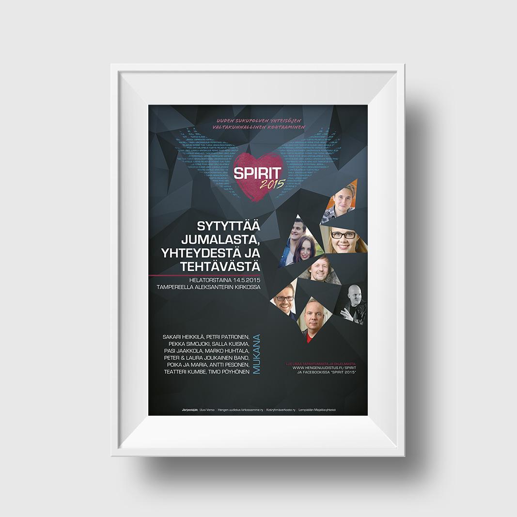 Spirit 2015 -juliste (Spirit-logon suunnittelu: Vladimir Halinen)