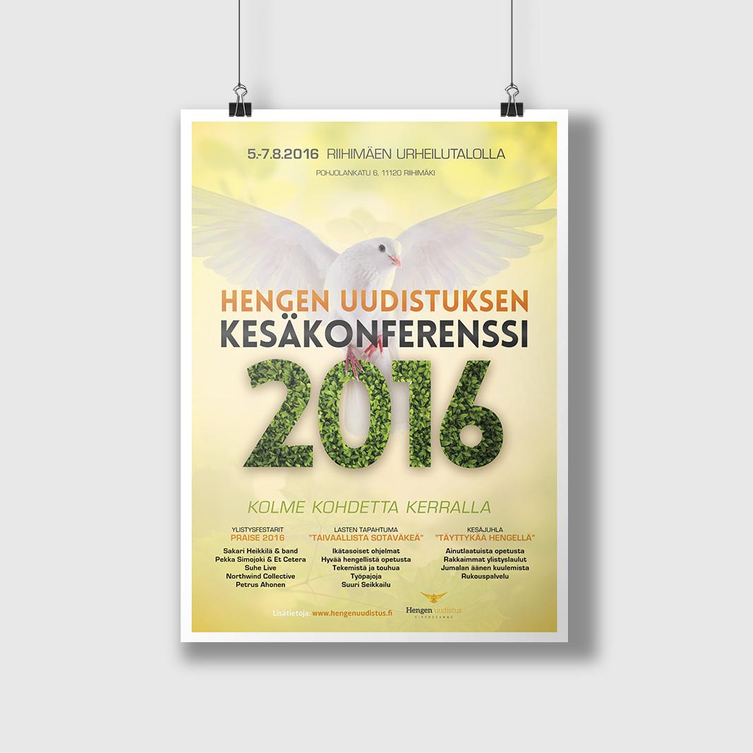 HU:n 2016 Kesäkonferenssin julistesuunnittelu.