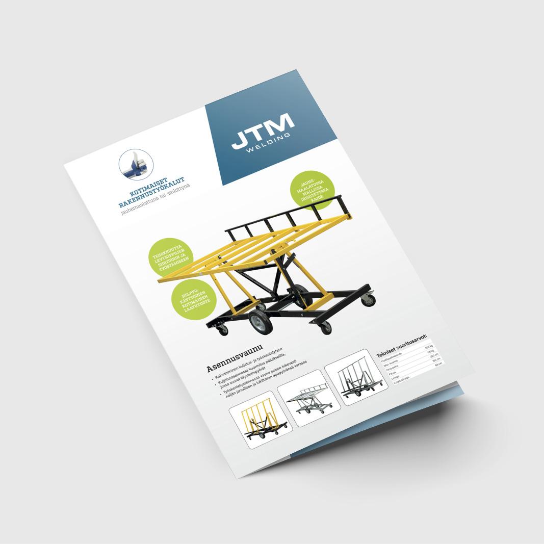 4-sivuisen esitteen suunnittelu ja taitto. Esitteen yhteydessä uudistettiin yrityksen logo.