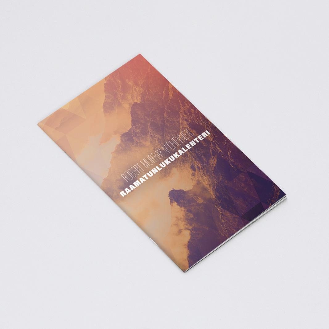 Robert M'Cheynen Raamatunlukukalenterin graafinen suunnittelu sekä taitto. Vihkosesta tehtiin 2 eri kokoa, A5 sekä A6. http://www.kkjmk.net/product_details.php?p=3328