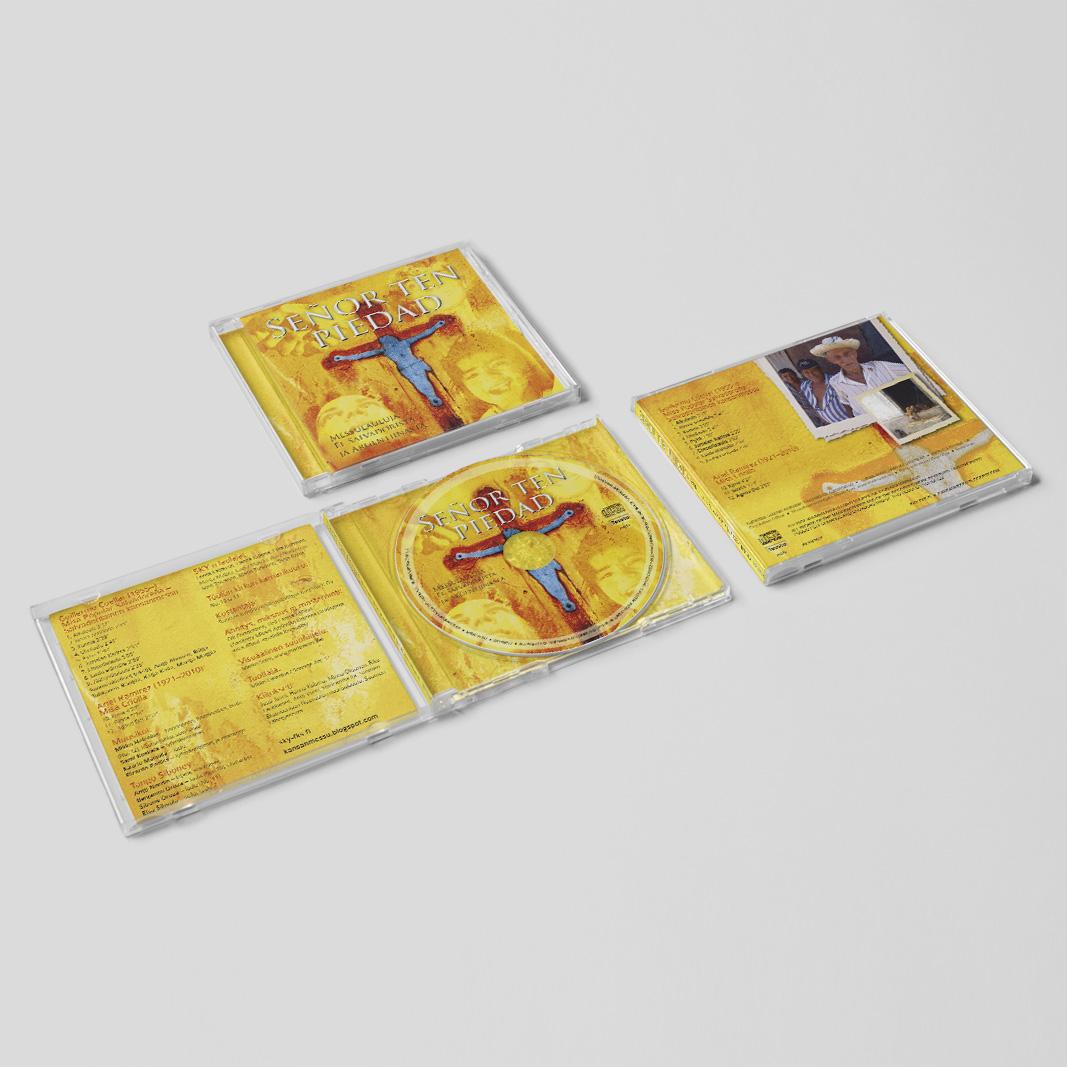 Suomen Kristillisen Ylioppilasliiton CD:lle levynkansisuunnittelu. (Messulauluja El Salvadorista ja Argentiinasta, 2012)