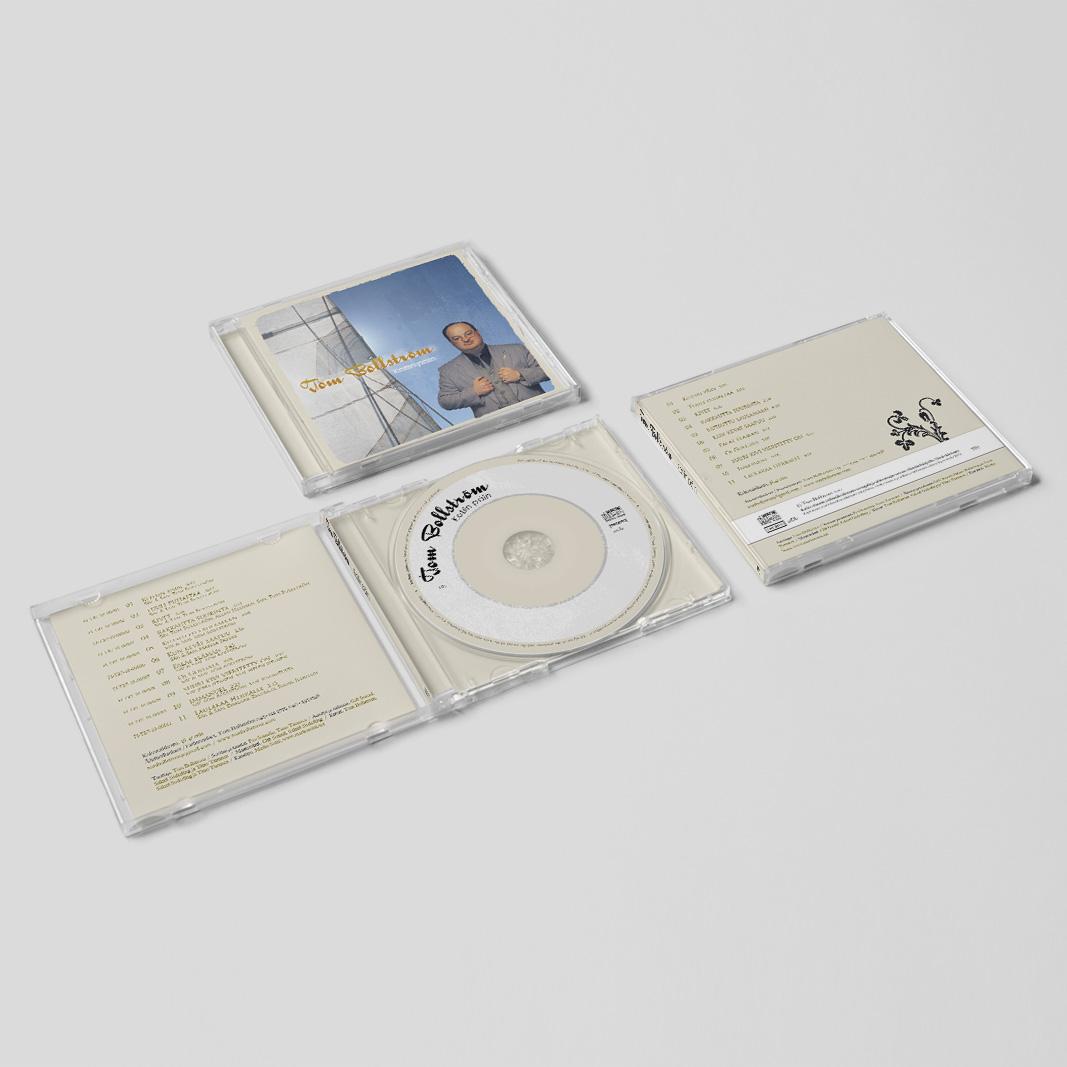 """Levynkansisuunnittelu Tom Bollströmin """"Kotiin päin"""" -CD:lle 2010."""