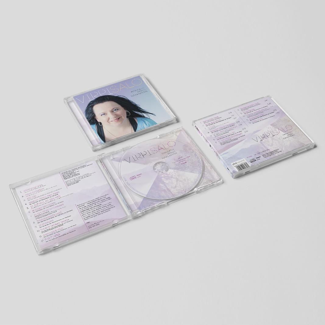 """Virpi Salon CD:n """"Rakastit minut näkemään"""" (Päivä Osakeyhtiö 2016) kansisuunnittelu. http://www.nettikirjakauppa.com/rakastit-minut-nakemaan-cd.html"""