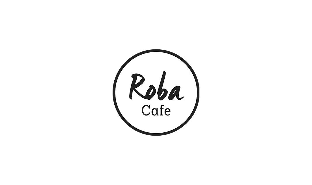 Roba Cafen yksi logoversio.