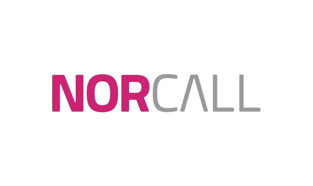 Norcallin logo (2014). Pirteä ja raikas väritys erottuu positiivisesti.