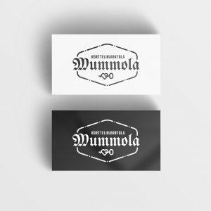 Kortteliravintola Mummolan logo mustana sekä valkoisena.